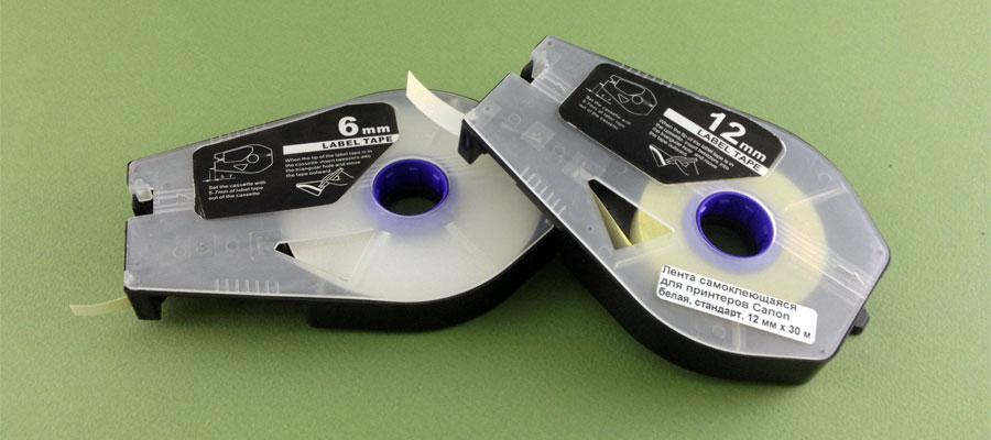 Самоклеящаяся лента в кассете для кабельных принтеров Canon Mk1500, Mk2500, Mk2600