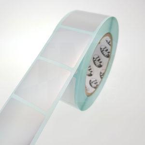 Этикетки из серебристого матового полиэстера 1112