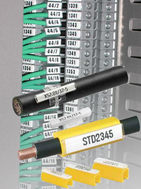 Гильзя и контейнеры для маркировки провода и кабеля