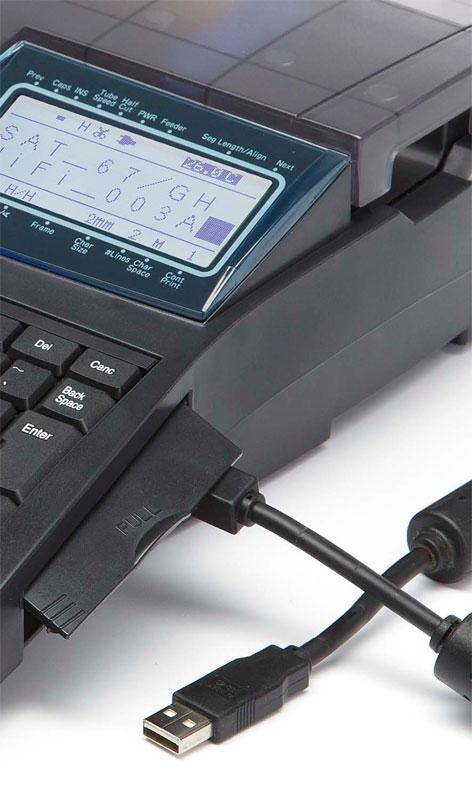 Подключение к ПК кабельного принтера Partex Promark T800