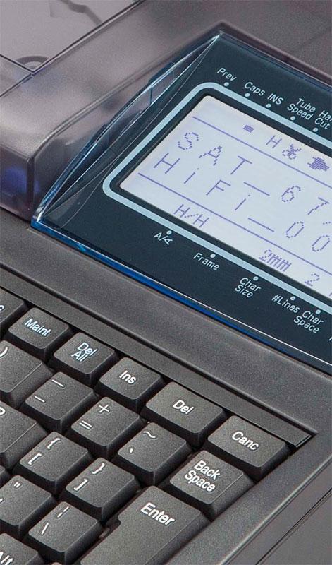Чёткий контрастный экран с подсветкой кабельного принтера Partex Promark T800
