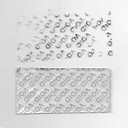 Пломба наклейка VOID серебристая матовая 1130