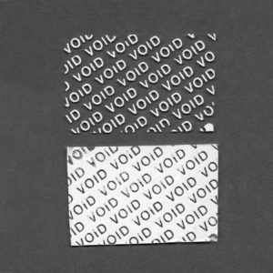 Пломба наклейка VOID белая глянцевая 1132