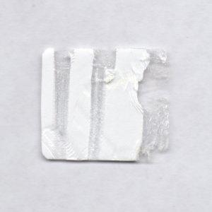 Пломба наклейка белая полуглянцевая полистерен 430002