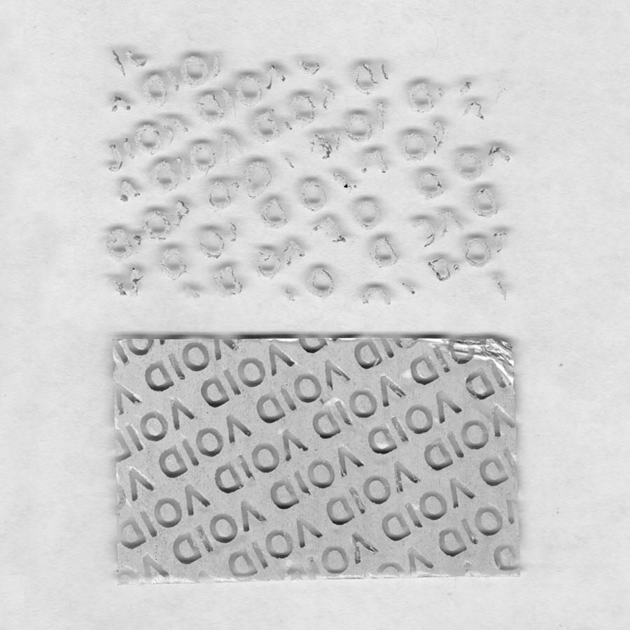 Гарантийная этикетка из материала 6003