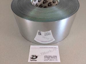 Этикетки из серебристого глянцевого полиэстера 1113