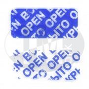 Пломба наклейка синяя ВСКРЫТО 6001
