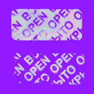 Гарантийная этикетка пломба наклейка ВСКРЫТО OPEN из материала 6003