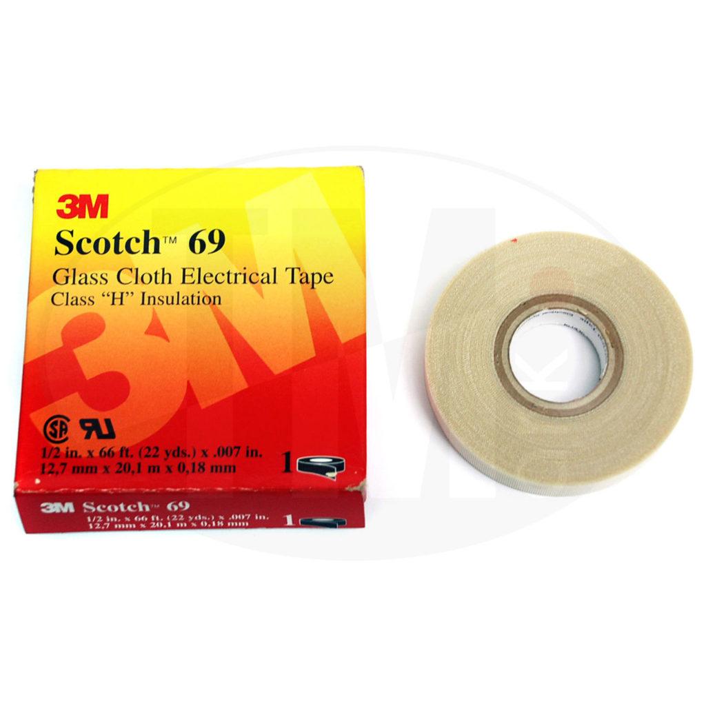 Лента 3M Scotch 69 стеклотканевая электроизоляционная