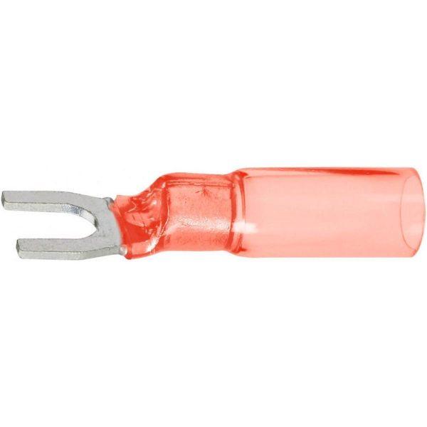 Вилочный кабельный наконечник Deray Crimpseal II красного цвета