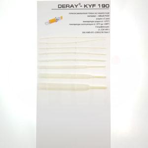 Химически стойкая гибкая термоусадочная трубка Deray KYF 190
