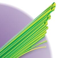 Желто-зеленая гибкая экономичная термоусадочная трубка Deray PBF
