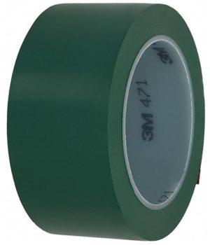 Зеленая клейкая лента разметки пола 3M 471