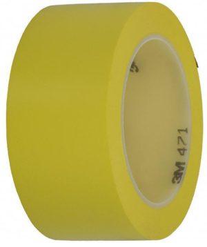 Желтая клейкая лента разметки пола 3M 471