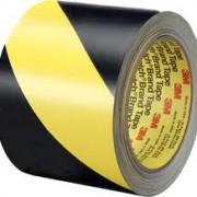 Лента для напольной разметки 3M 5702 черно-желтая