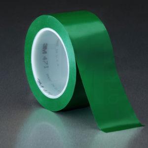 Зеленая клейкая лента напольной разметки 3М 471