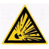 Предупреждающий знак «Взрывоопасно» (W02)