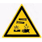 Предупреждающий знак «Едкие и коррозионные вещества» (W04)