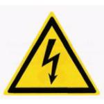 «Опасность поражения электрическим током» W08