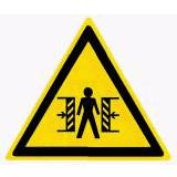 Предупреждающий знак «Опасность зажима» (W22)
