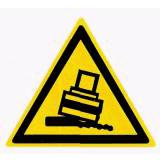 Предупреждающий знак «Возможно опрокидывание» (W23)