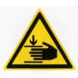 Предупреждающий знак «Возможно травмирование рук» (W26)