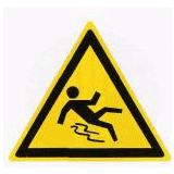 Предупреждающий знак «Скользко» (W27)