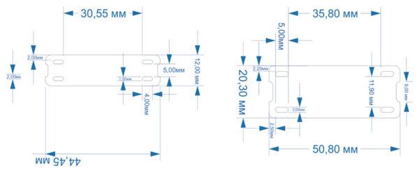 Размеры бирок из Nomex и полиимида