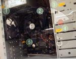 Пломбирование гарантийной этикеткой при сборке компьютеров