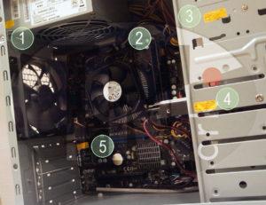 Гарантийные этикетки при сборке компьютеров