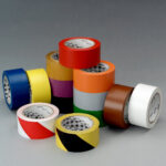 Цветные клейкие ленты разметки пола 3М 764, 10 цветов
