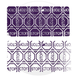 Пломба наклейка СТОП STOP фиолетовая 6004