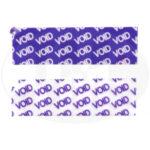 Пломба наклейка VOID фиолетовая из полиэтилена 2216