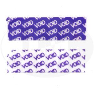 Пломба наклейка VOID фиолетовая полуглянец