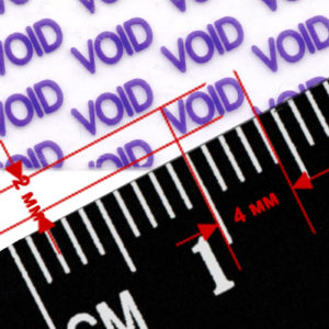 Гарантийная этикетка пломба наклейка VOID из материала 2216