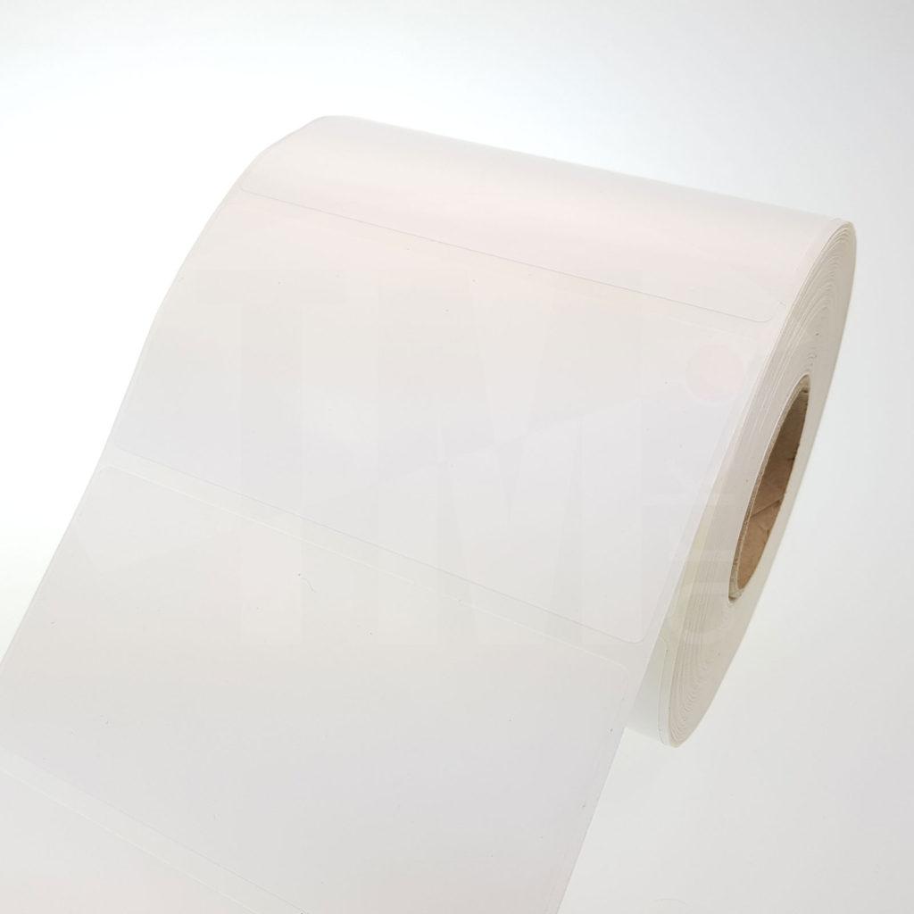 Этикетки из белого глянцевого полипропилена 81011