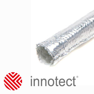 innoFLECT - теплоотражающая оплетка из аппретированного стекловолокна покрытая алюминиевой фольгой