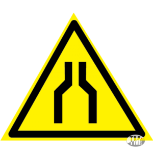 Предупреждающий знак «Сужение» W30