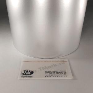 Серебристые полуглянцевые этикетки из полиэстера 2244