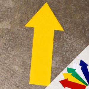 Цветные стрелки для сигнальной разметки пола