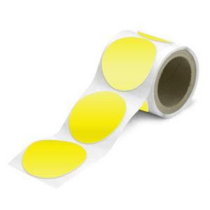 Желтые круги сигнальной разметки диаметром 89 и 150 мм из самоклеящейся плёнки