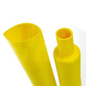 Термоусадочная трубка желтого цвета коэффициент усадки 2:1