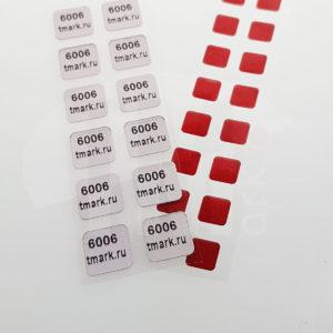 Этикетка индикатор попадания влаги 6006