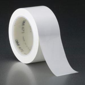 Белая клейкая лента напольной разметки 3М 471