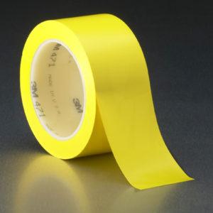 Желтая клейкая лента напольной разметки 3М 471