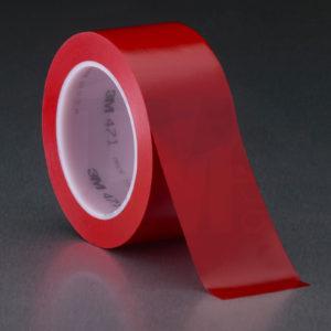 Красная клейкая лента разметки пола 3M 471