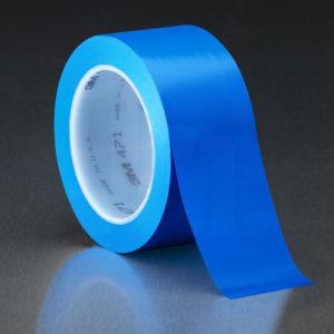 Синяя клейкая лента напольной разметки 3М 471