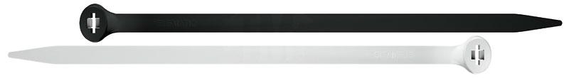 Кабельные стяжки (хомуты) 2-LOCK черного и белого цвета