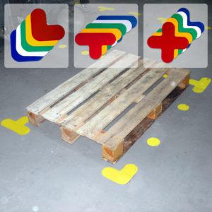 L- T- X- образные наклейки