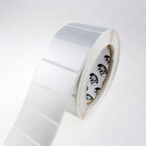 Серебристые матовые этикетки из полиэстера 2214